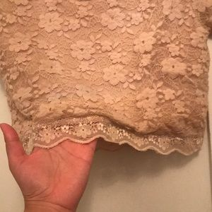 Forever 21 Tops - Beige crop top laced
